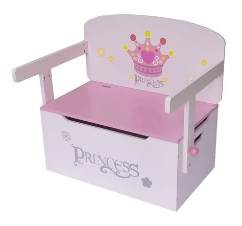 princess toy bench kiddi style princess themed convertible toy box bench