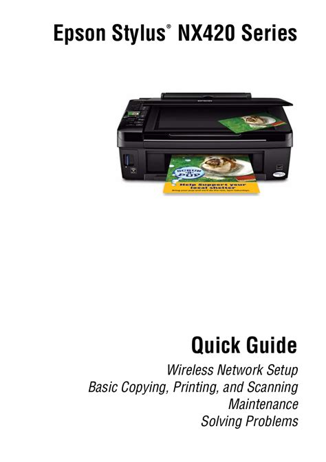 Epson Stylus Nx420 User Manual 56 Pages