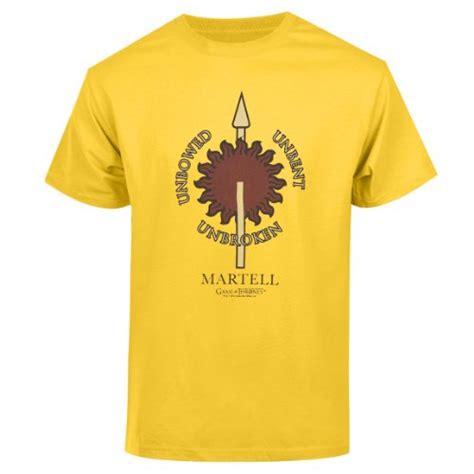 Gasa Tshirt of thrones unisex martell t shirt yellow large
