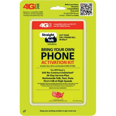 make your own sim card talk bring your own phone cdma activation kit 4g