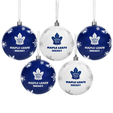 toronto maple leafs 5 pk shatterproof ball ornaments