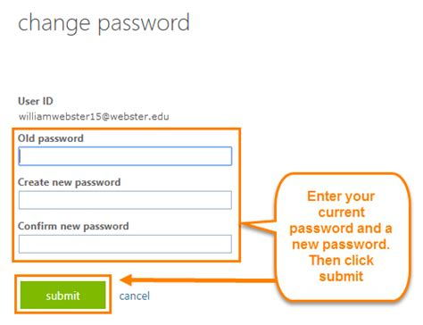 Change Password Office 365 by Worldclassroom Faqs How Do I Change Password For
