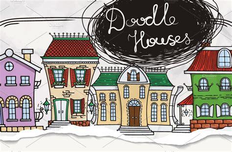 home design doodle book set of doodle houses pattern engine templates