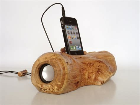 Wood Handmade - handmade wood charging dock speaker gadgetsin