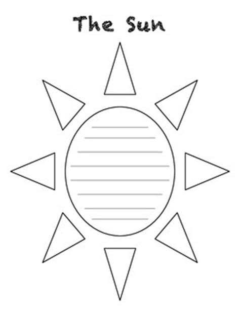 template of the sun the sun concrete poem template by in the place tpt