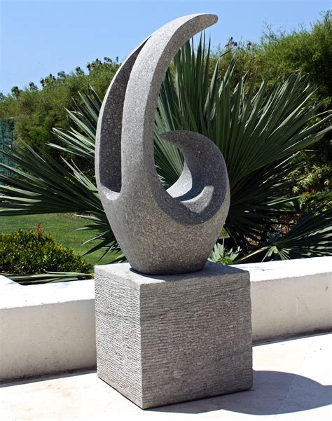 large garden sculptures curvation modern art stone statue ebay
