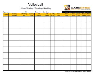 printable volleyball stats stat sheet website has lots of stat helps but at a price