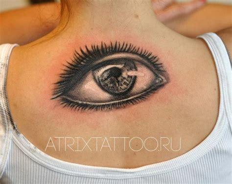 tattoo old school occhio tatuaggio realistici schiena occhio di atrixtattoo