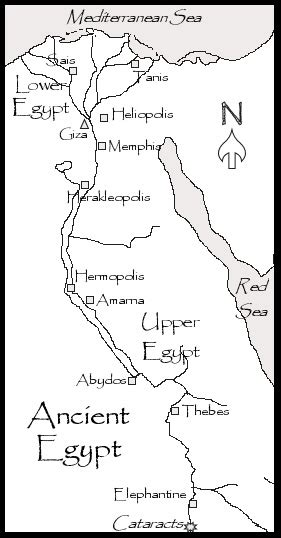 printable map ancient egypt early ancient egypt