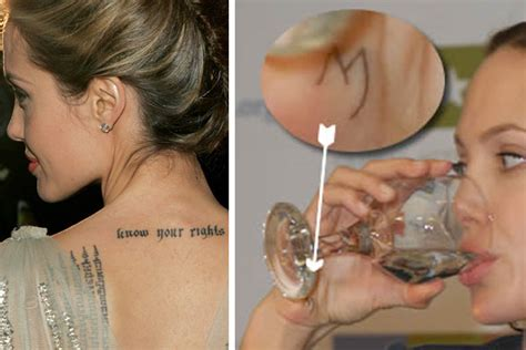 angelina jolie rune tattoo angelina jolie s tattoos pictures and their meanings