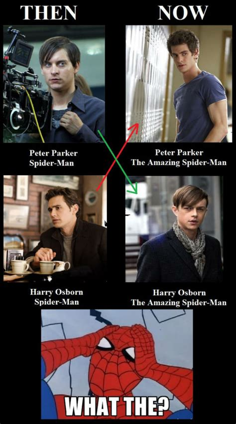 The Amazing Spiderman Memes - spiderman then vs now weknowmemes