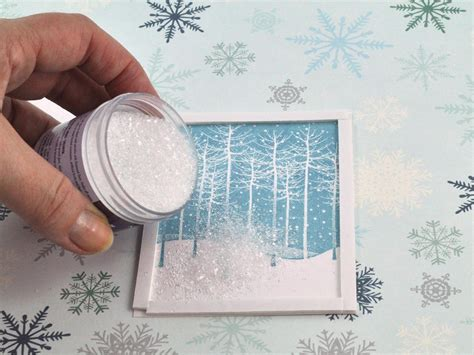falling snow shaker card hgtv