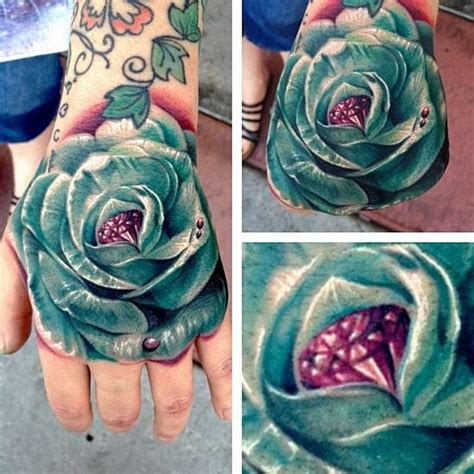 rose with diamond tattoo meaning 43 best designs images on