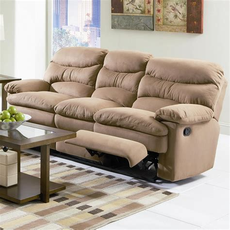 Reclining Sofa Microfiber Microfiber Reclining Sofa Furniture Loccie Better Homes Gardens Ideas