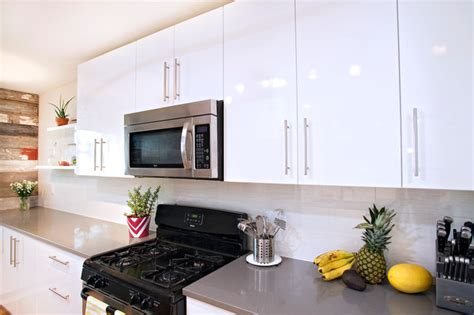 Austin Floor And Decor by Contemporary White High Gloss Foil Kitchen Cabinets