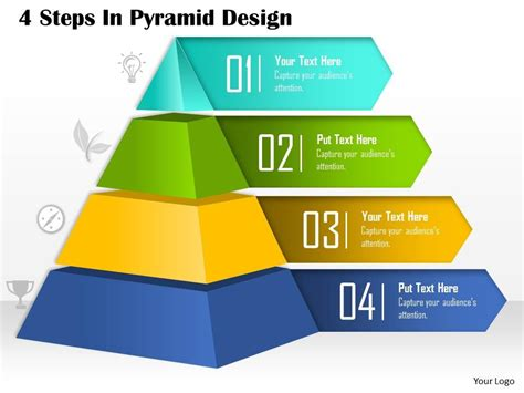 0514 4 Steps In Pyramid Design Powerpoint Presentation Powerpoint Slide Images Ppt Design Pyramid Powerpoint Template