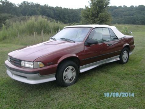 1989 chevrolet cavalier z24 for sale purchase used 1989 chevrolet cavalier z24 convertible 2 8
