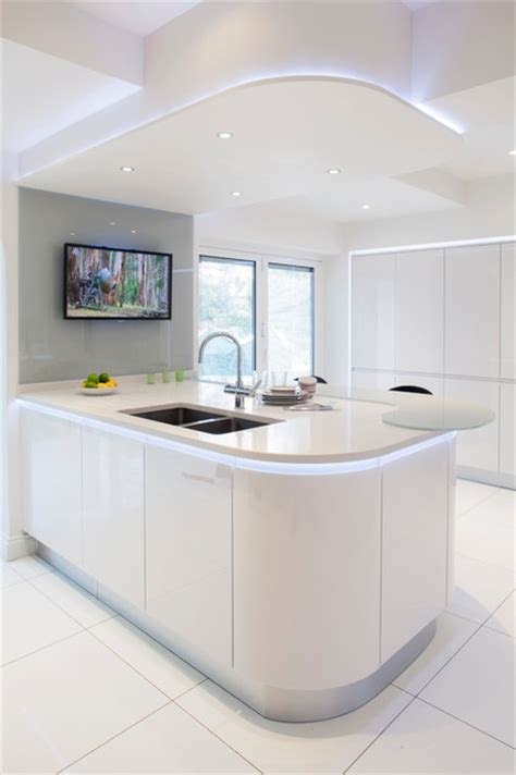contemporary white kitchen houzz stoneham evolve kitchen with silestone polar cap white surfaces contemporary kitchen south