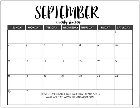 Calendar For Word Just In Fully Editable 2016 Calendar Templates In Ms Word