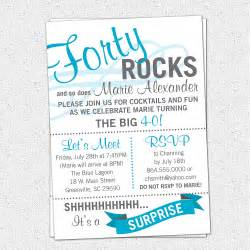 surprise 40th birthday party invitations wording drevio