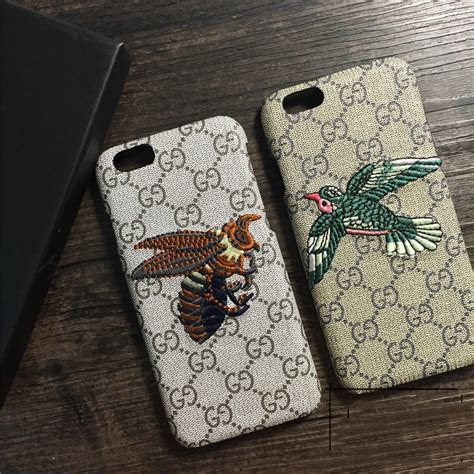 Iphone 8 Plus Gucci by Buy Wholesale Gucci Pattern Embroidery Eagle Leather Back Cover For Iphone 8 Plus