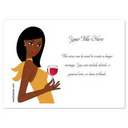 woman and wine african american invitations amp cards on