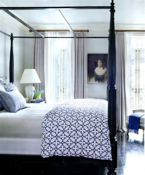 navy white bedroom for the home