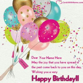 Free Birthday Greeting Cards With Name