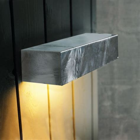 nordlux square maxi 14w outdoor wall light galvanised steel
