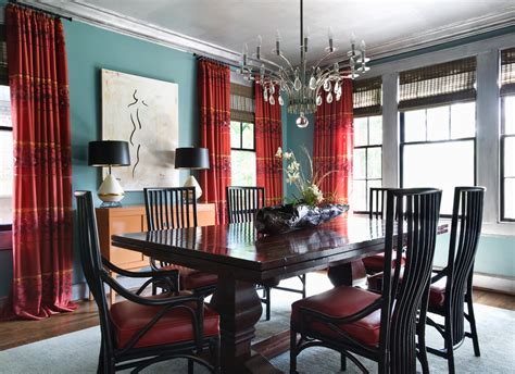 teal dining room teal curtain ideas dining room eclectic with craftsman