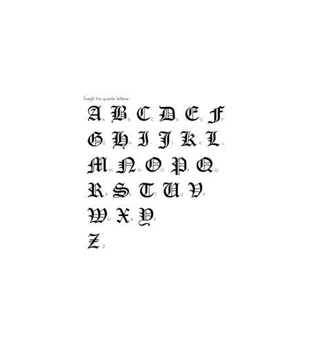 lettere in gotico anello chevalier con lettera gotica