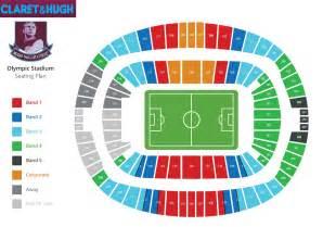 stadium plan os west ham seating plan revealed claretandhugh