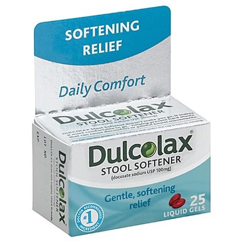 What Is In Dulcolax Stool Softener by Liquid Stool Softener For Dulcolax 35 Count Stool
