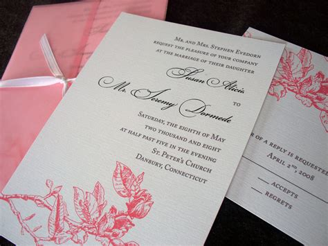 Wedding Invitations Atlanta by Atlanta Wedding Invitation Sle Tulaloo