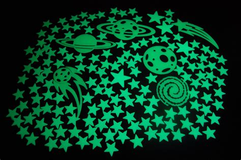 30 off glow in the dark stars wall stickers 252 dots and moon for starry sky perfect for 150 piece glow in the dark stars super glowing galaxy set