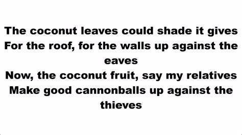 coconut song the coconut song da coconut nut youtube