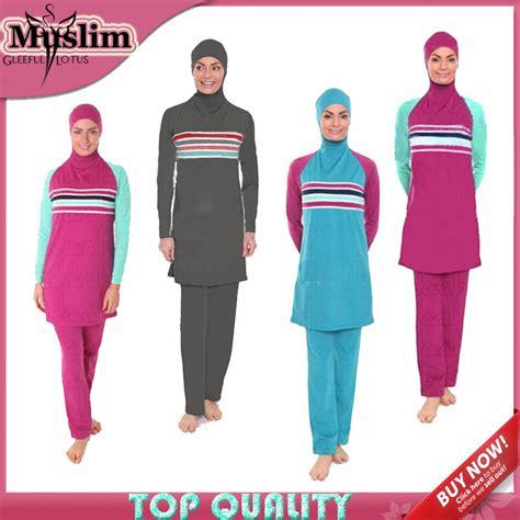 Baju Renang Untuk Wanita Aliexpress Beli Pakaian Renang Muslim Pakaian Baju Renang Untuk Wanita Muslim Islam