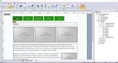 templates for corel website creator website creator