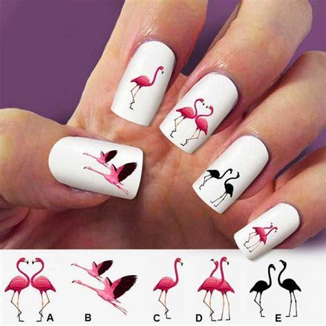Flamingo Nail Sticker by Flamingo Nail Decals Birds Nail Nail Design
