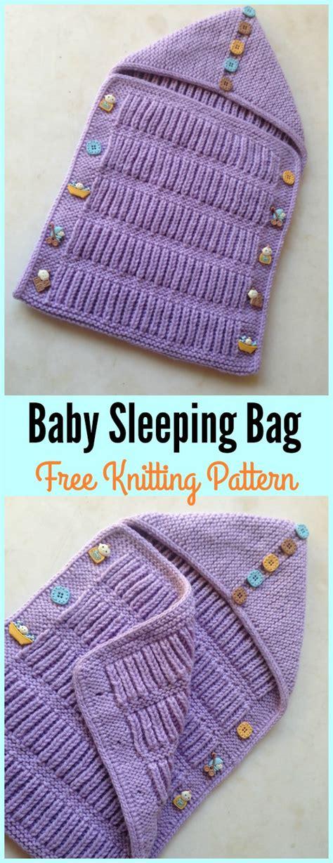 Baby Knitted Sleeping Bag baby sleeping bag free knitting pattern