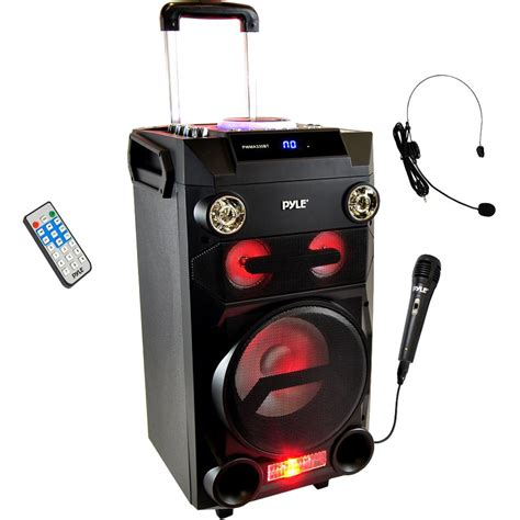 Speaker Karaoke pyle pro portable bluetooth karaoke and pwma335bt b h