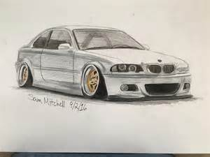 bmw drawing car draw on instagram