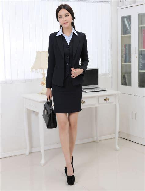 Jaket Blazer Wanita Rompi Blazer Rajut Jk1197 musim gugur dan musim dingin resmi blazer wanita bisnis setelan dengan rok jaket rompi set
