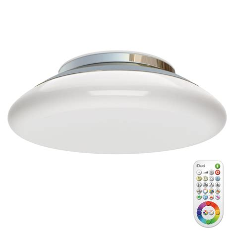 volta chrome effect ceiling light with remote