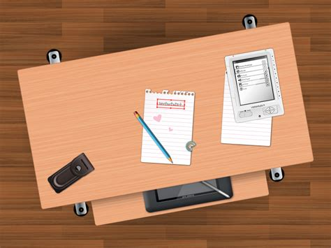 Create A Students Desk In Top View Using Simple Shapes And Student Desk Top