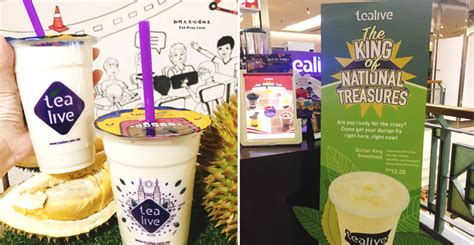 malaysians   durian king smoothie    tealive