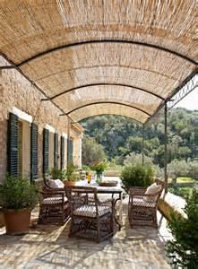 Mesa Awnings Casa R 250 Stica Con Paredes De Piedra Y Porche Con Techo De