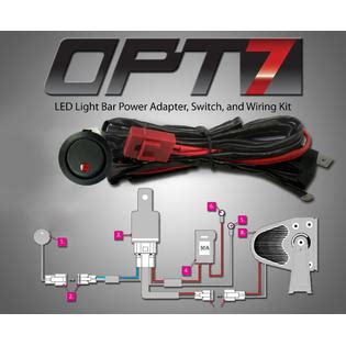 opt7 road led light bar on power switch 40