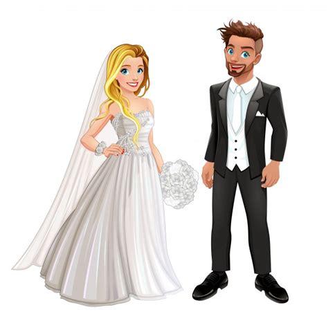 wedding characters wedding characters vector premium