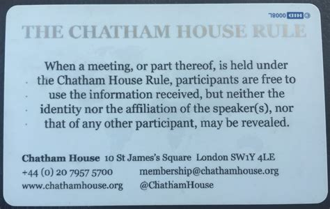 chatham house rules chatham house membership review